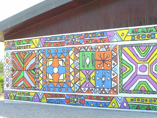 fresque du groupe scolaire